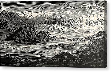 Call Of The Desert Canvas Print by Maria Arango Diener