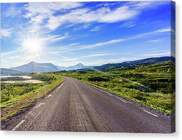 Canvas Print featuring the photograph Call Of The Road by Dmytro Korol