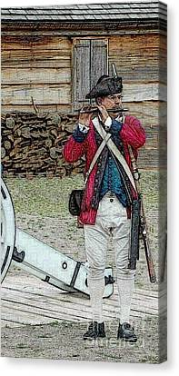 Call To Arms Canvas Print by Diane E Berry