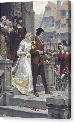 Call To Arms Canvas Print by Edmund Leighton