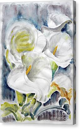 Canvas Print featuring the painting Calla by Jasna Dragun