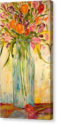 Calla Lilies Canvas Print by Barbara Pirkle