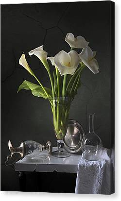 Calla Lilies Canvas Print by Giovanni Allievi