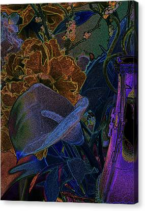 Calla Lily Abstract Canvas Print by Stuart Turnbull