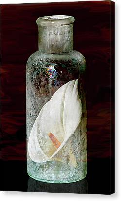 Canvas Print featuring the photograph Calla Lily In A Bottle by Phyllis Denton