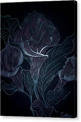Calla Lily Nite Canvas Print