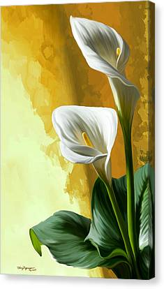 Calla Lily Canvas Print by Thanh Thuy Nguyen