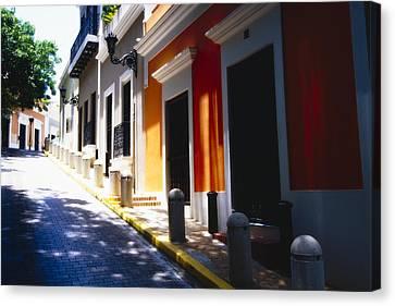 Calle Del Sol Old San Juan Puerto Rico Canvas Print by George Oze