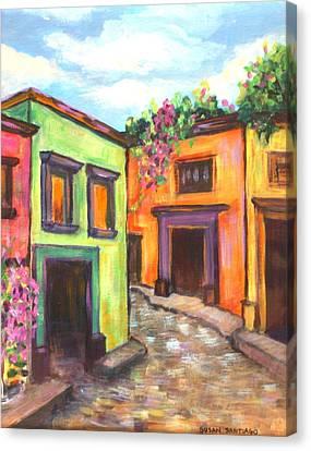 Calle En San Miguel De Allende Canvas Print