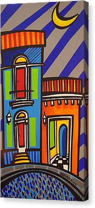 Calle Luna Canvas Print by Mary Tere Perez