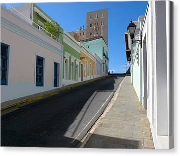 Calle Norzagaray San Juan Puerto Rico Canvas Print by George Oze