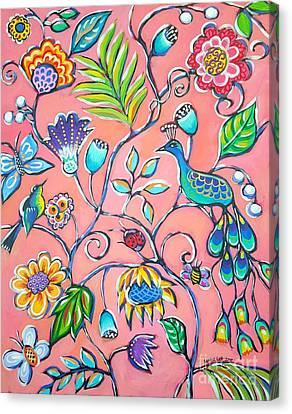 Callies Garden Canvas Print by Sandra Lett