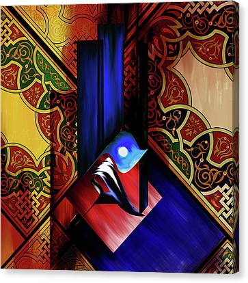 Canvas Print featuring the painting Calligraphy 102 1 1 by Mawra Tahreem