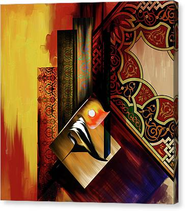 Canvas Print featuring the painting Calligraphy 102  2 1 by Mawra Tahreem