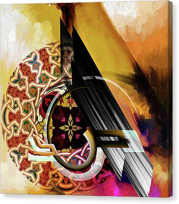 Canvas Print featuring the painting Calligraphy 103 1 1 by Mawra Tahreem