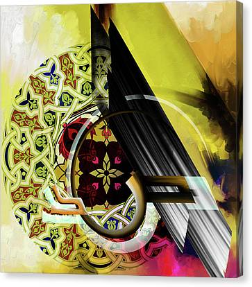 Canvas Print featuring the painting Calligraphy 103 2 1 by Mawra Tahreem