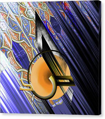 Canvas Print featuring the painting Calligraphy 103 3  by Mawra Tahreem