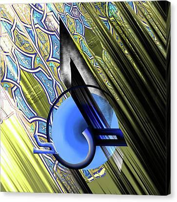 Canvas Print featuring the painting Calligraphy 103 4 by Mawra Tahreem