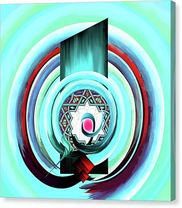 Canvas Print featuring the painting Calligraphy 104 4 by Mawra Tahreem
