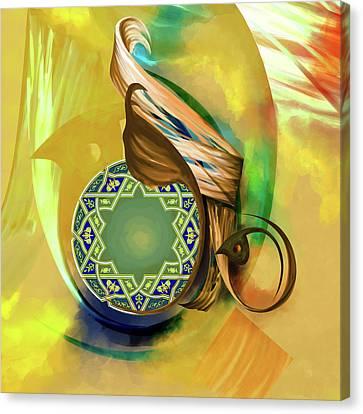 Calligraphy 31 8 1 Canvas Print by Mawra Tahreem
