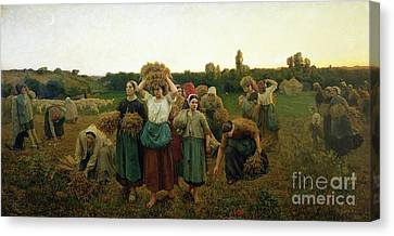 Calling Canvas Print - Calling In The Gleaners by Jules Breton