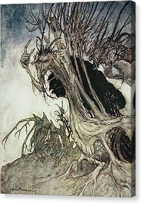 Calling Shapes And Beckoning Shadows Dire Canvas Print by Arthur Rackham