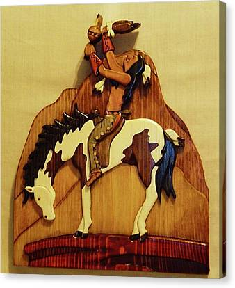 Calling The Great Spirit Canvas Print by Russell Ellingsworth