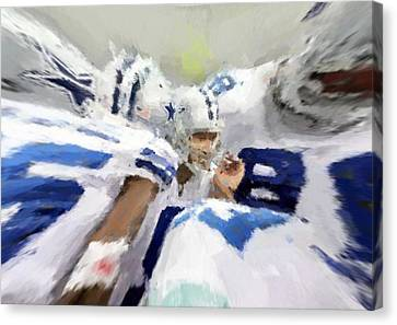 Calling The Play Canvas Print by Carrie OBrien Sibley