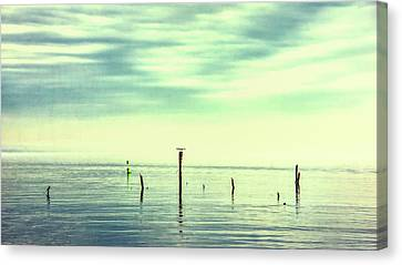 Canvas Print featuring the photograph Calm Bayshore Morning N0 1 by Gary Slawsky