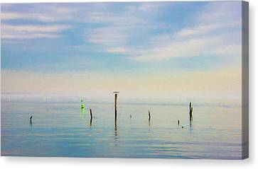 Canvas Print featuring the photograph Calm Bayshore Morning N0 2 by Gary Slawsky