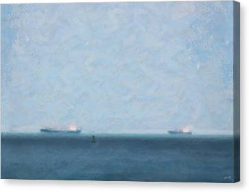 Calm Blue Lake 1 Canvas Print by Chamira Young