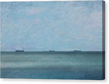 Calm Blue Lake 3 Canvas Print by Chamira Young