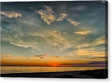 Southwest Florida Sunset Canvas Print - Calm Gulf Waters Sunset by Frank J Benz