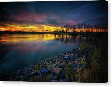 Canvas Print featuring the photograph Calm by John De Bord