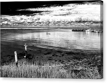 Canvas Print featuring the photograph Calm On The Bay by John Rizzuto