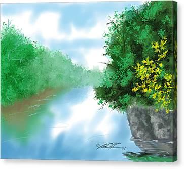 Calm River Canvas Print