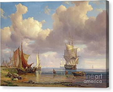 Calm Sea Canvas Print by Adolf Vollmer