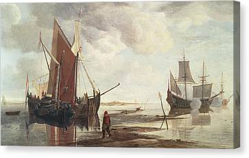 Calm Sea Canvas Print by Hendrick Dubbels