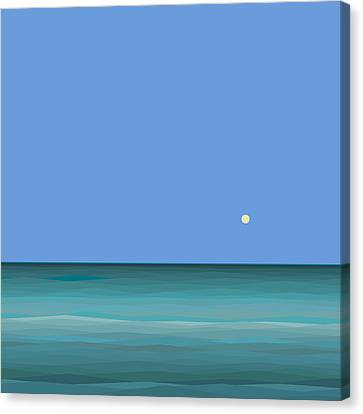 Canvas Print featuring the digital art Calm Sea - Square by Val Arie