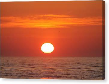 Calm Seas Sunrise Canvas Print by Robert Banach