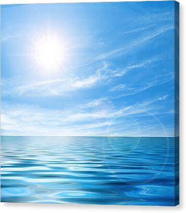 Calming Canvas Print - Calm Seascape by Carlos Caetano