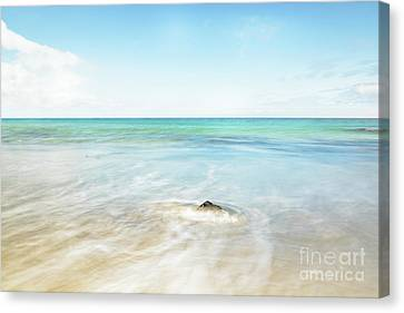 Calm Summer At The Beach Canvas Print by Chitlesh Goorah