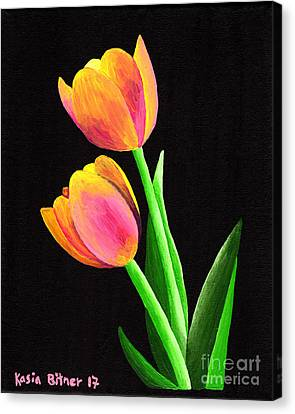 Canvas Print - Calm Tulips by Kasia Bitner