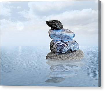 Balance In Life Canvas Print - Calm Waters by Gill Billington