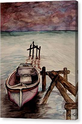 Calm Waters Canvas Print by Lil Taylor