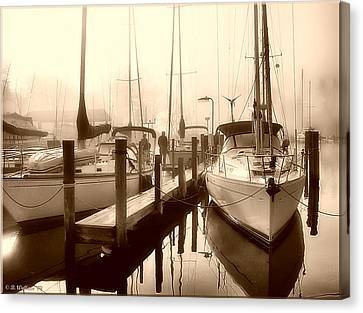 Canvas Print featuring the photograph Calmly Docked by Brian Wallace