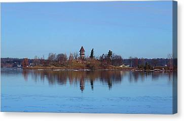 Calumet Island Reflections Canvas Print