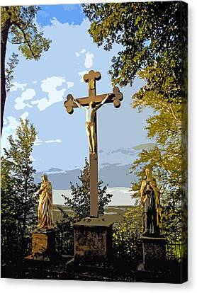 Canvas Print featuring the photograph Calvary Group - Parkstein by Juergen Weiss