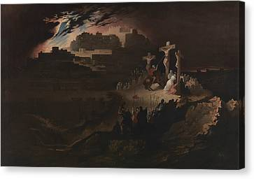 Calvary Canvas Print by John Martin