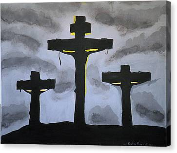 Three Crosses Canvas Print by Kate Farrant